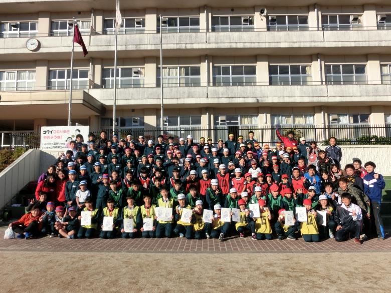 福島県いわき市内の中学校と小学校にてスポーツ交流会を開催