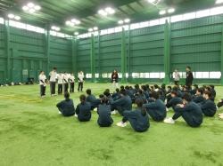 いわき市立内郷第三中学校の生徒と訪問交流会