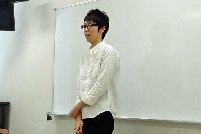 学生プレゼン始まる(佐野ゼミ)
