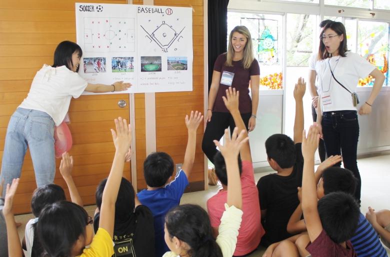 小学校での異文化交流会(国際観光学科2年ジェネスゼミ)