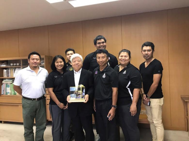 タイ王国陸上競技ハンマーチーム 学長表敬訪問