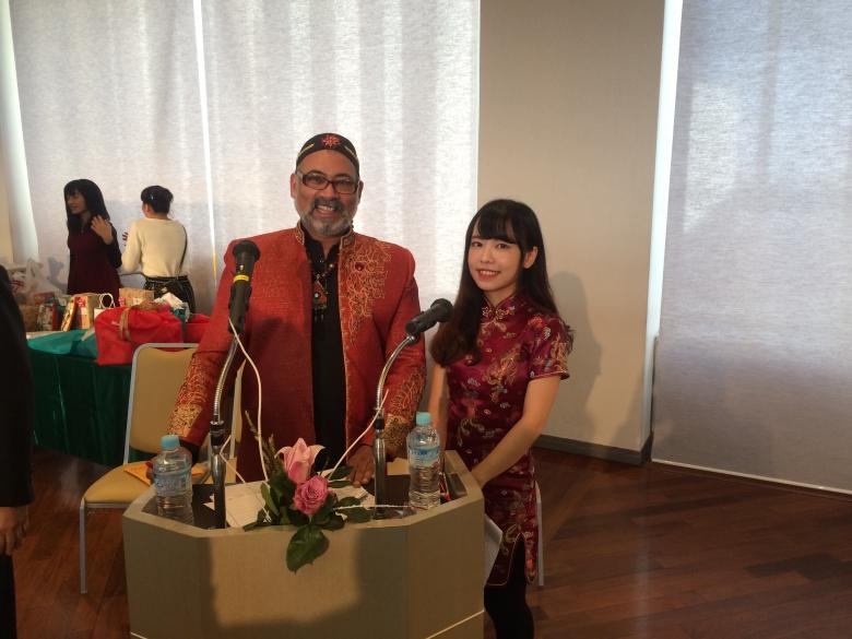 2017年度松戸市国際交流協会主催『第28回国際交流パーティー』において留学生が司会を務めました