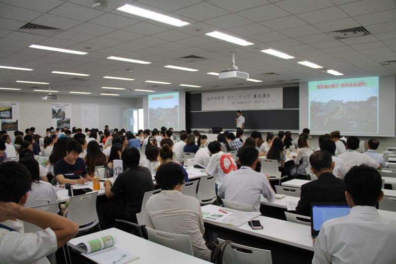 留学生対象の『防災ボランティア研修会』を行いました