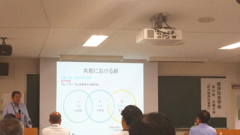 恩田教授が経済社会学会で研究報告