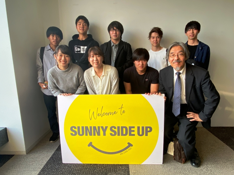 藤原ゼミの学生がスポーツPR会社サニーサイドアップを訪問