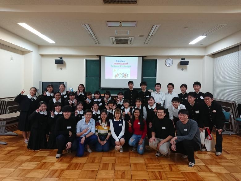 竜ケ崎第一高校で国際交流イベントを行いました
